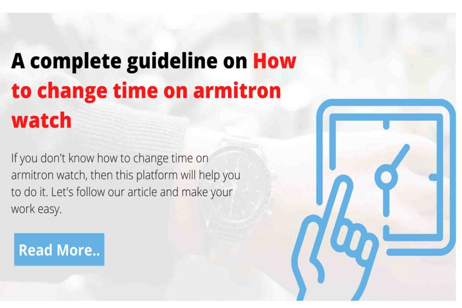 how to change time on armitron watch