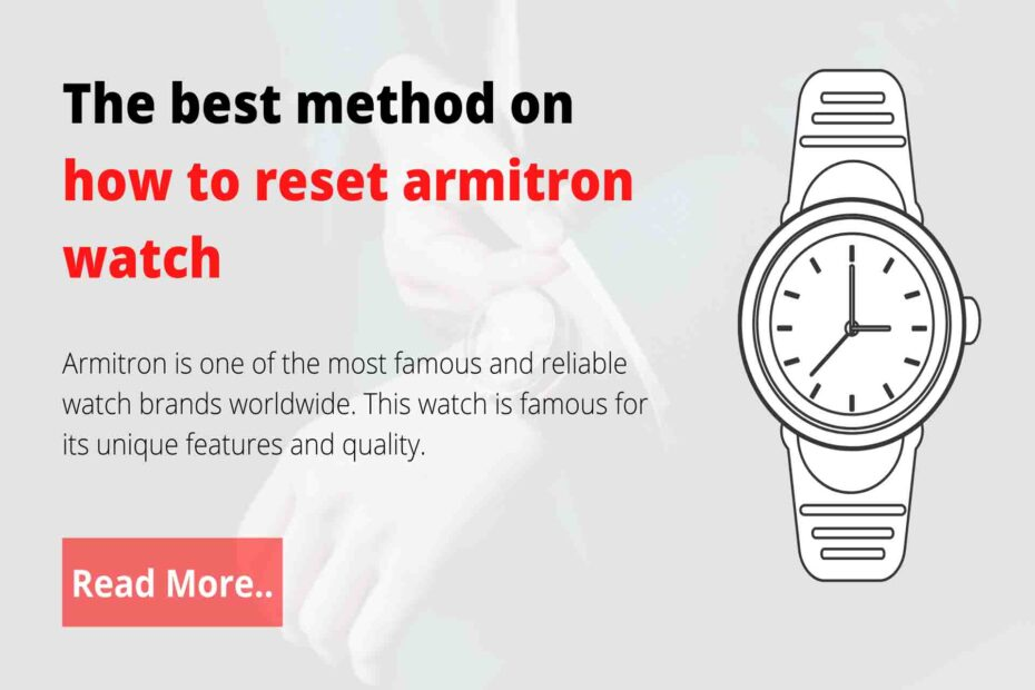 how to reset armitron watch