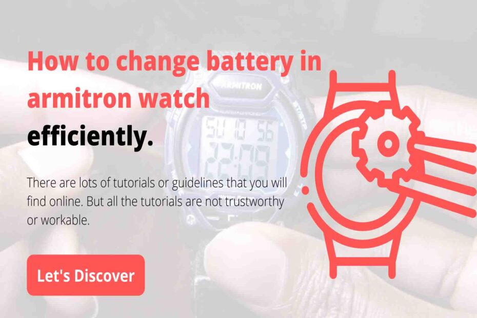 How to change battery in armitron watch